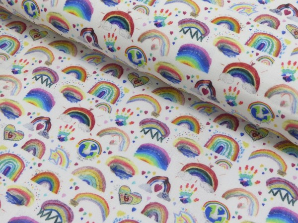 Baumwoll Druck Regenbogen