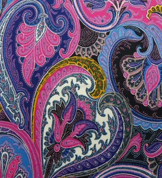 Polyester Jersey Druck Paisley