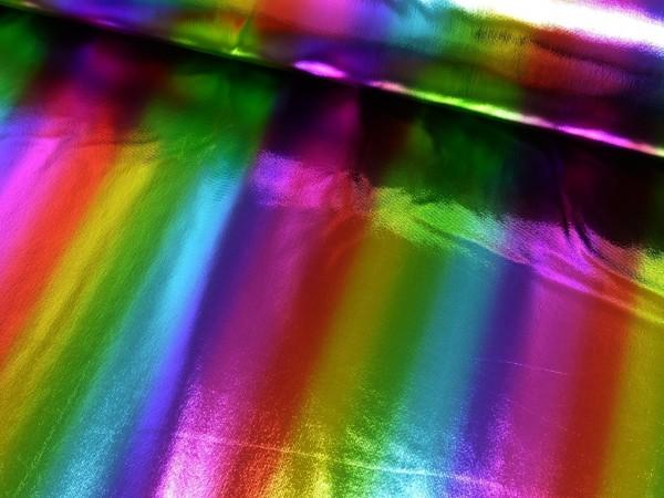 Folienjersey Regenbogen Streifen