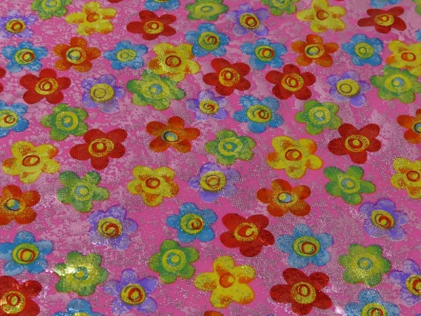 Folienjersey Druck Flower Power