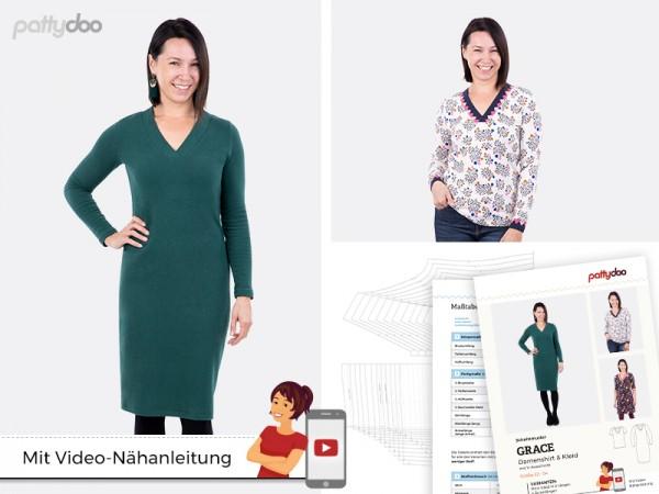 Schnittmuster Grace Shirt + Kleid by pattydoo
