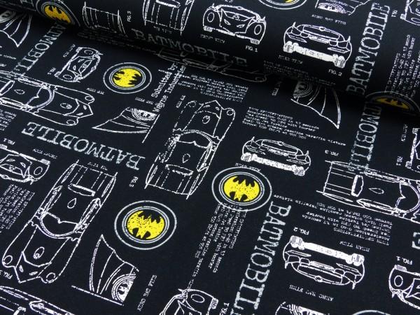Baumwoll Jersey Digital Druck Batman