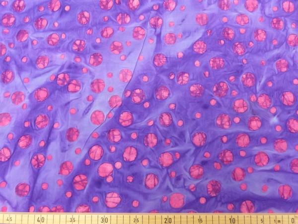 Baumwoll Batik Druck Bubble