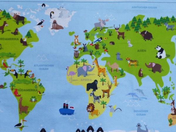 Filz Druck Weltkarte