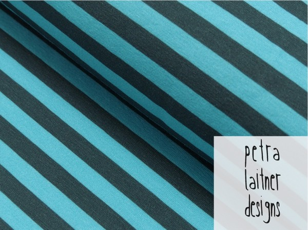 Organic Baumwoll Jersey Druck Like Summer (Streifen) by petra laitner