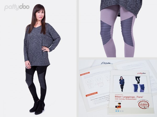 Schnittmuster Tara Biker Leggings by pattydoo