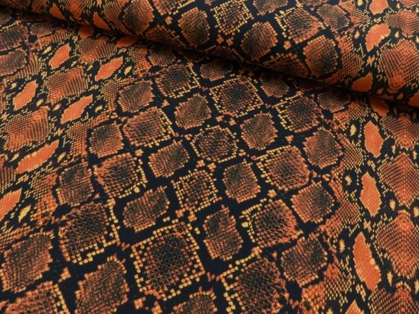 Baumwoll Jersey Druck Reptil