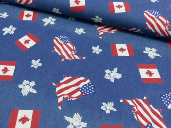 Jeans Druck Amerika