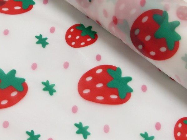 Regenjackenstoff Erdbeere