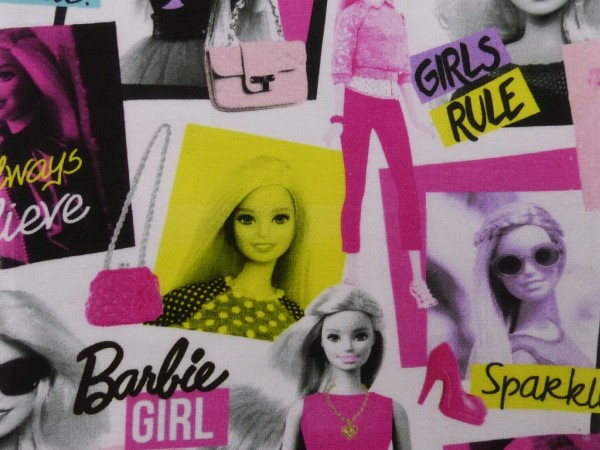 Baumwoll Jersey Digital Druck Barbie Girl