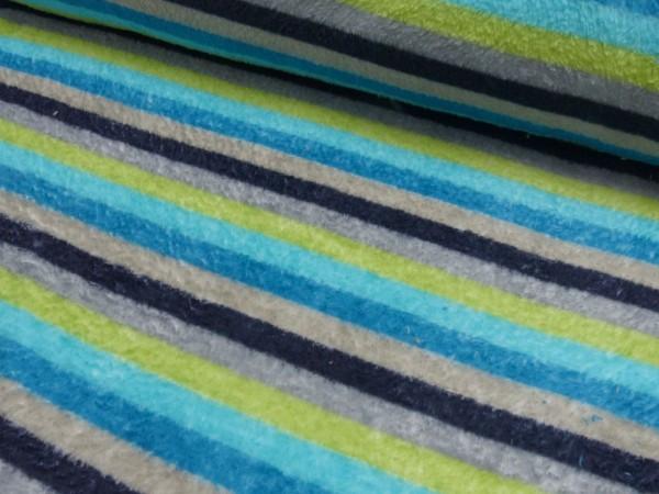 Micro Fleece Druck Streifen