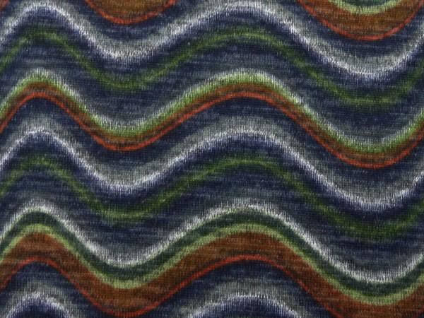 Strick bedruckt Wellen