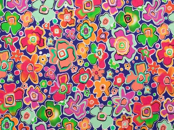 Baumwoll Jersey Druck Flower Mix