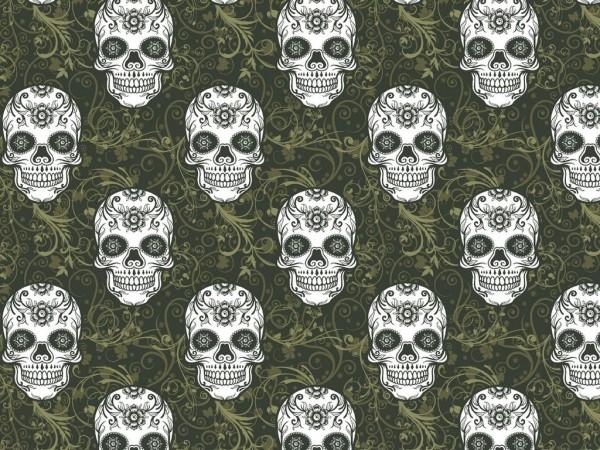 French Terry Druck Skulls