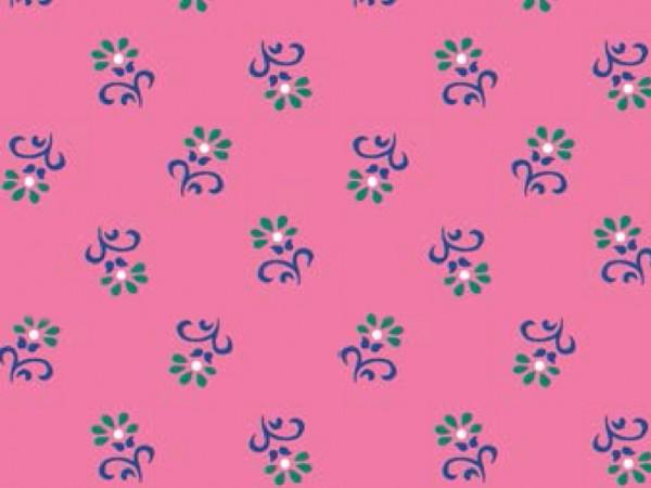 Baumwoll Druck Trachtenblüte