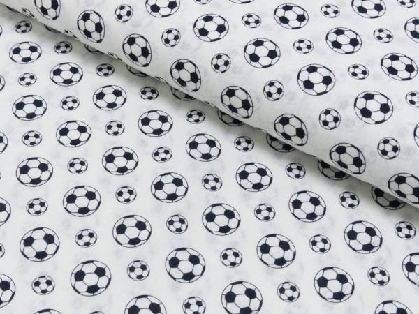 Baumwoll Druck Fußball