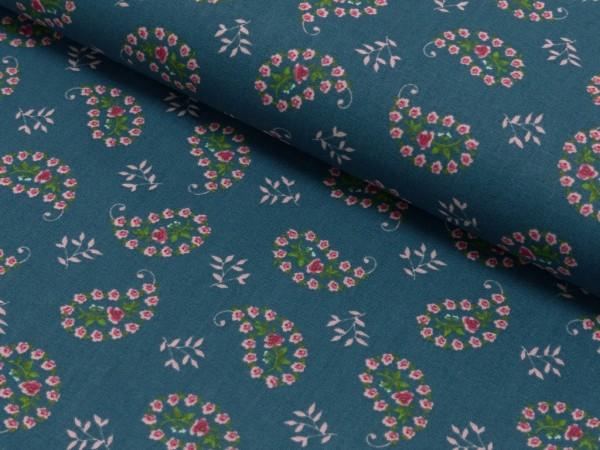 Baumwoll Druck Floral Sarah