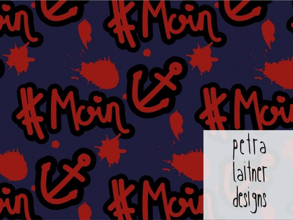 Baumwoll Jersey Druck #moin by petra laitner