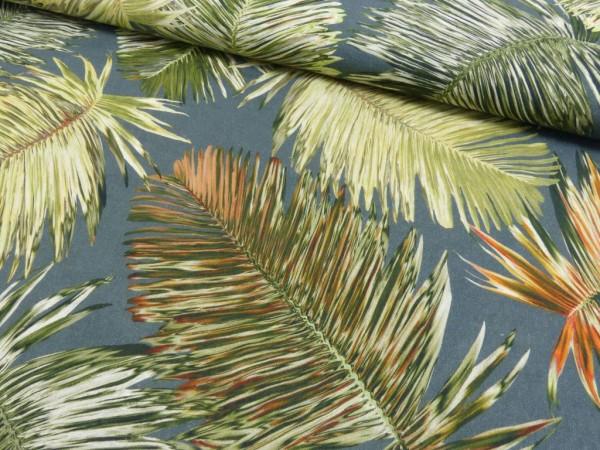 Leinen Druck Palmenblätter