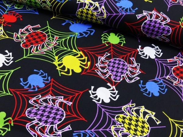 Baumwoll Druck Spinnennetz