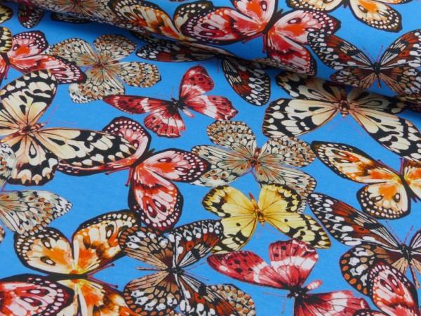 Baumwoll Jersey Druck Schmetterlinge
