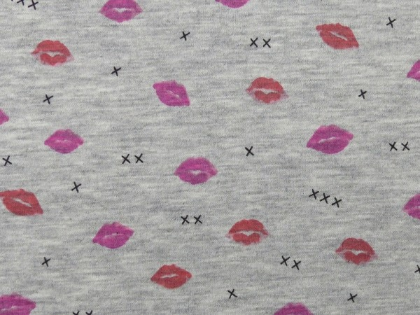 Viscose Jersey Druck Kiss