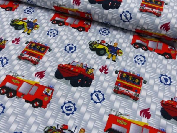 Baumwoll Jersey Digital Druck Sam der Feuerwehrmann
