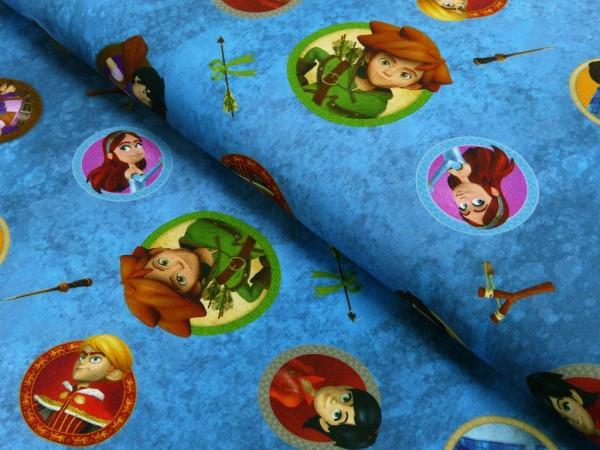Baumwoll Jersey Digital Druck Robin Hood