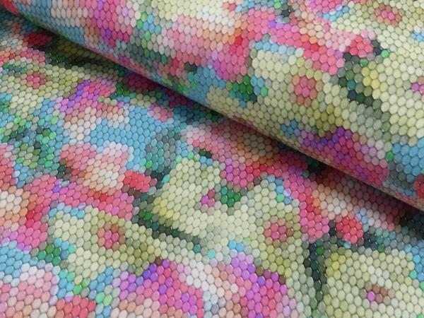 Baumwoll Jersey Digital Druck Flower Mosaic