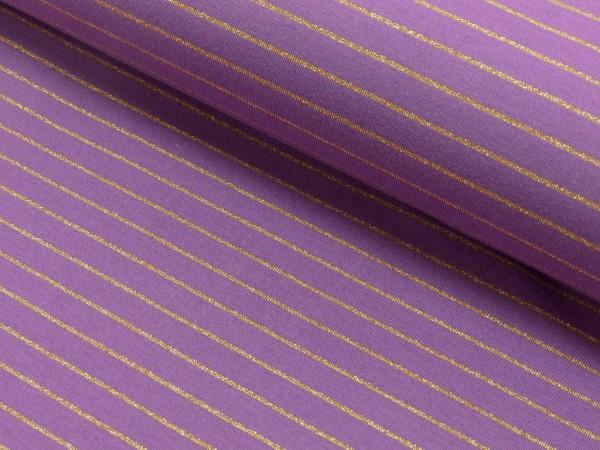 Baumwoll Jersey Lurex Streifen