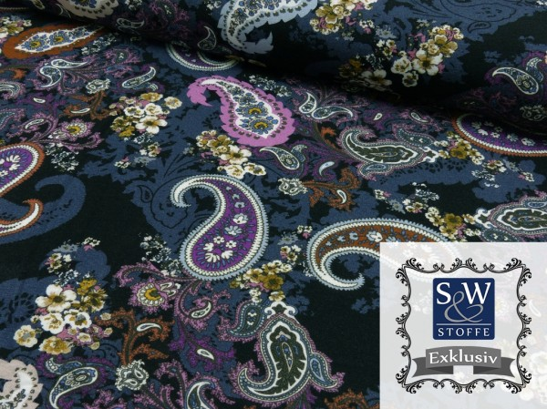 Viscose French Terry Druck Lilac Wonder