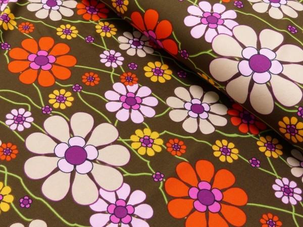 Polyester Jersey Druck Blumen