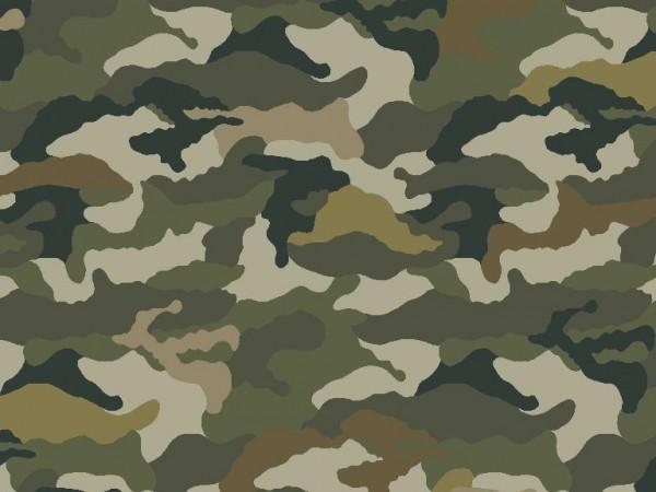 Baumwoll Jersey Druck Camouflage