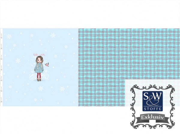 Baumwoll Jersey Digital Druck Winter Girl (Panel)
