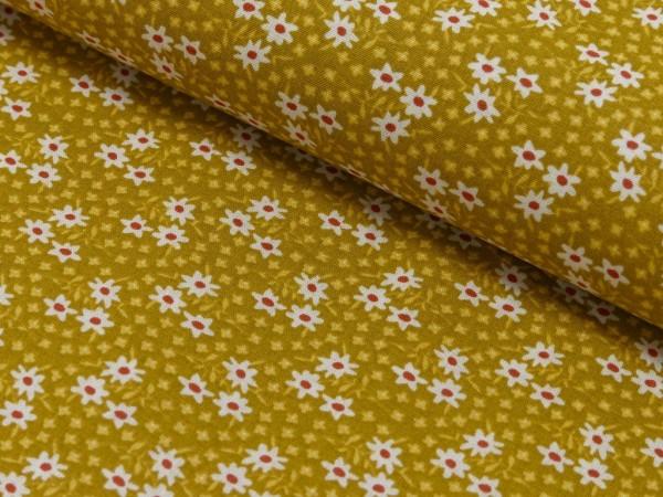 Baumwoll Druck Floral Midinette