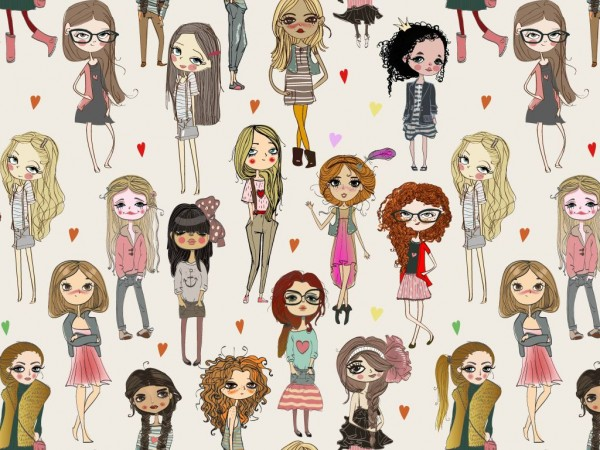 Baumwoll Jersey Druck girls²