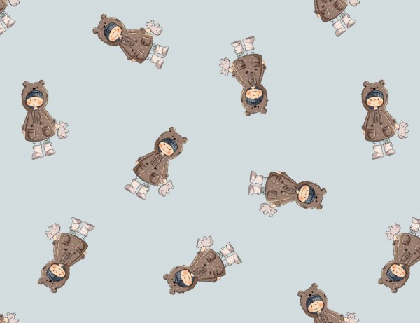 French Terry Druck Bobby Bear (Kombi) by emmapünktchen
