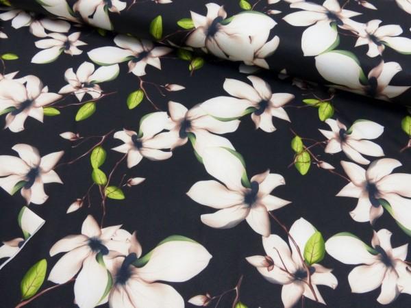 Polyester Jersey Druck Flowers