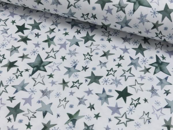 Baumwoll Jersey Druck Baby Stars