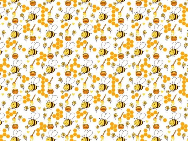 Baumwoll Druck Bienen