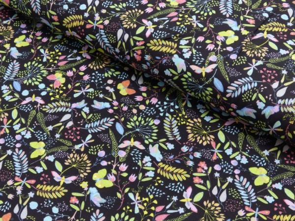 Baumwoll Druck Schmetterlingswiese