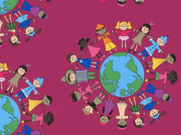 Baumwoll Druck Kinder der Welt