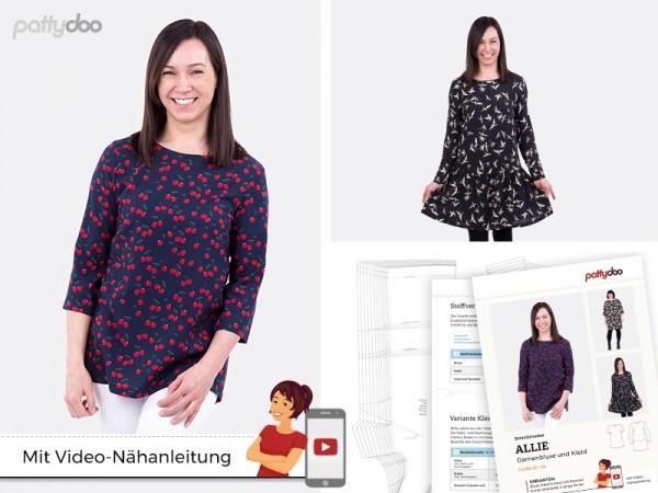Schnittmuster Allie Damen Bluse + Kleid by pattydoo