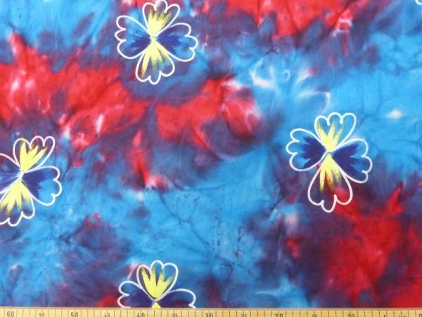 Baumwoll Batik Druck handbemalt
