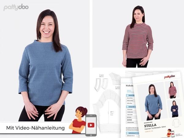 Schnittmuster Stella Damen Turtleneck-Shirt by pattydoo