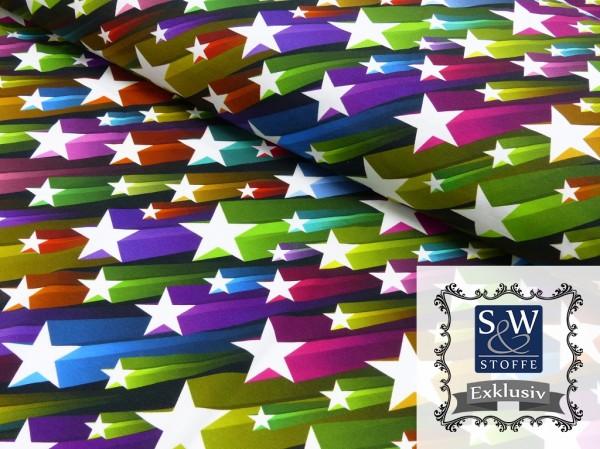 Baumwoll Jersey Druck Flying Stars