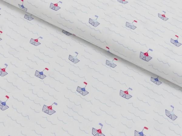 Baumwoll Druck Papierboote
