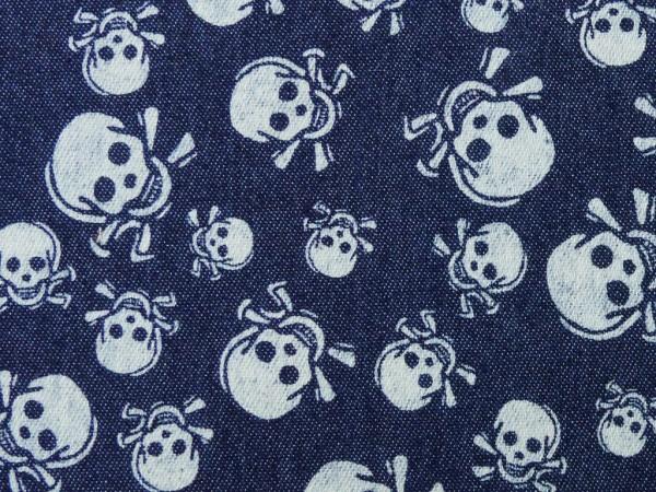 Jeans Druck Totenkopf