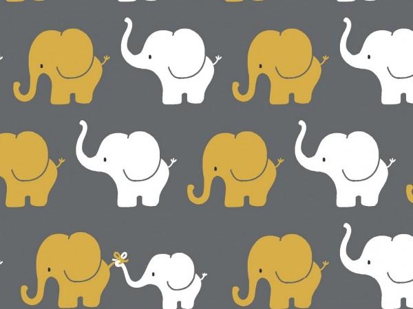 Baumwoll Jersey Druck Elephant Parade