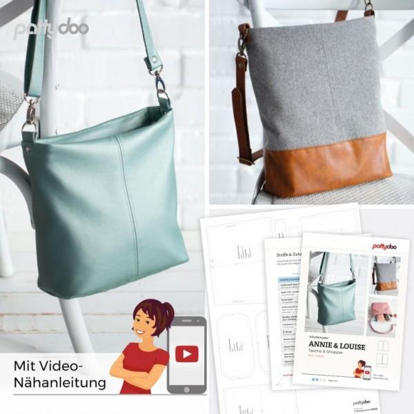 Schnittmuster Annie & Louise Tasche und Shopper by pattydoo